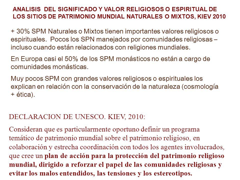 DECLARACION DE UNESCO. KIEV, 2010:
