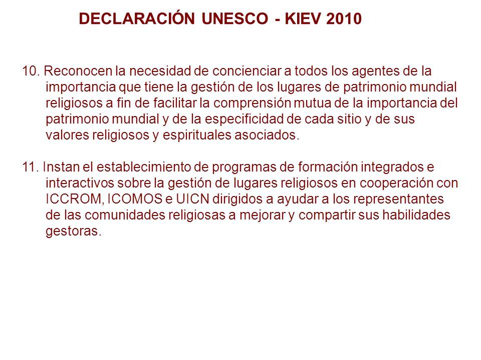 DECLARACIÓN UNESCO - KIEV 2010