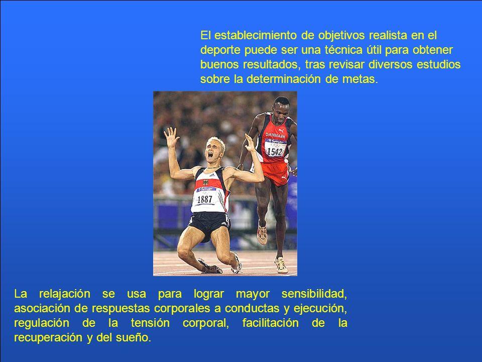 El establecimiento de objetivos realista en el deporte puede ser una técnica útil para obtener buenos resultados, tras revisar diversos estudios sobre la determinación de metas.
