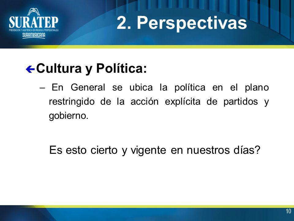 2. Perspectivas Cultura y Política: