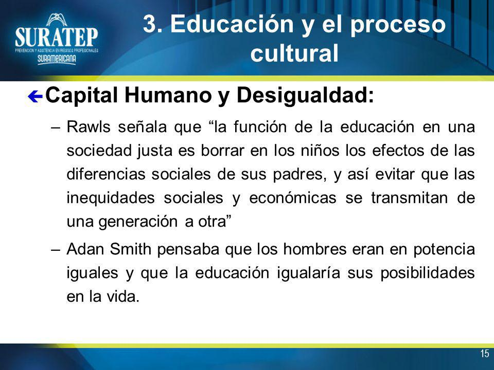 3. Educación y el proceso cultural