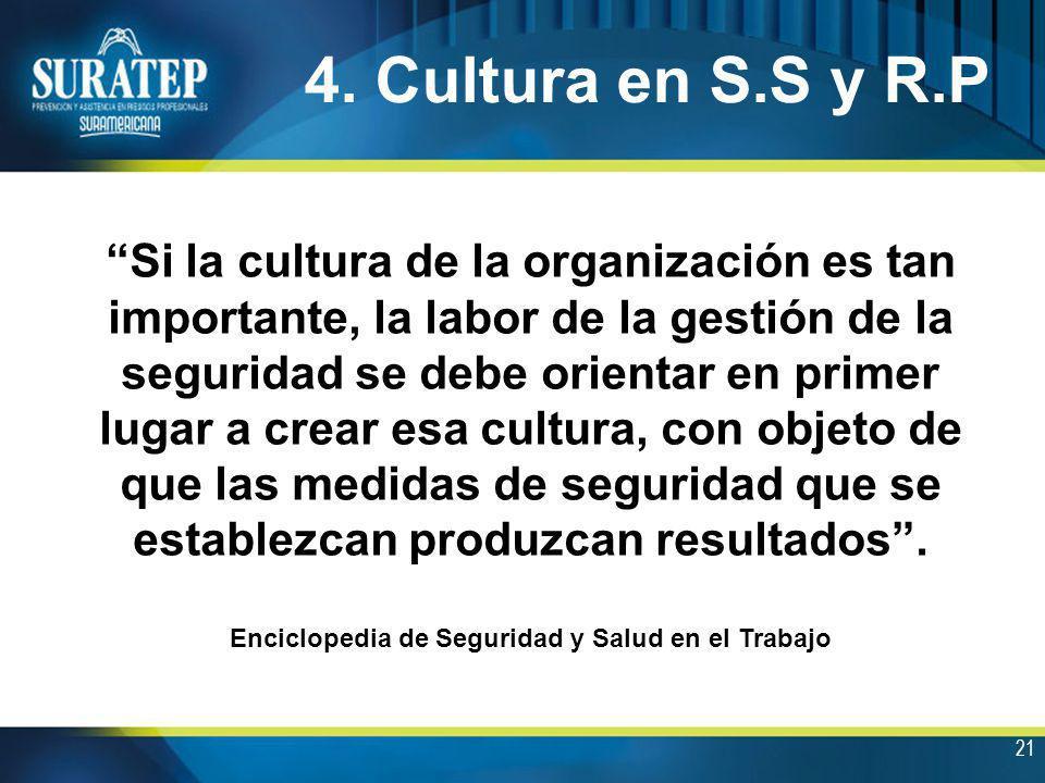 4. Cultura en S.S y R.P