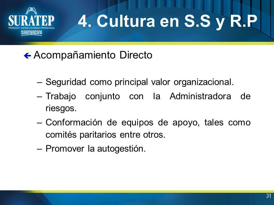 4. Cultura en S.S y R.P Acompañamiento Directo