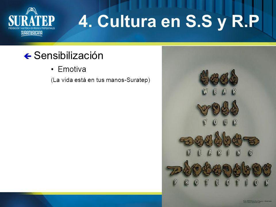 4. Cultura en S.S y R.P Sensibilización Emotiva