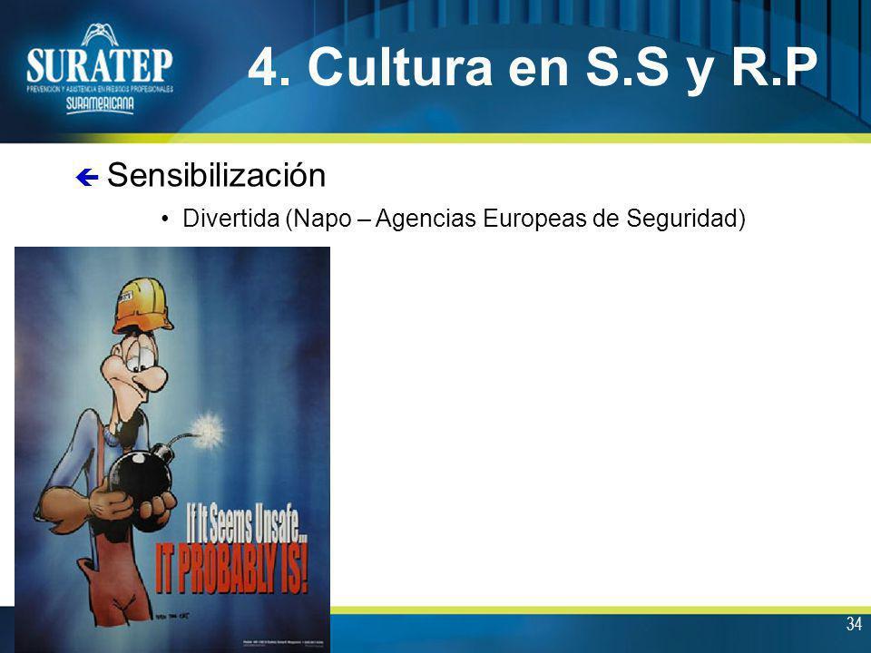 4. Cultura en S.S y R.P Sensibilización