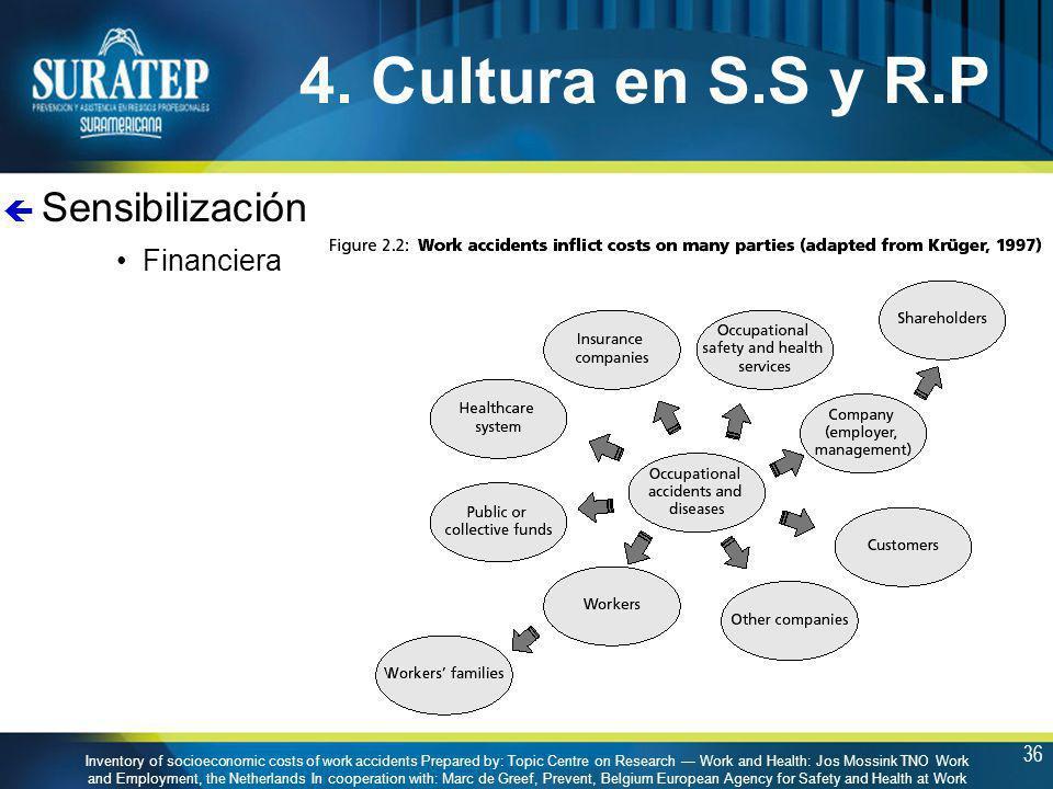 4. Cultura en S.S y R.P Sensibilización Financiera
