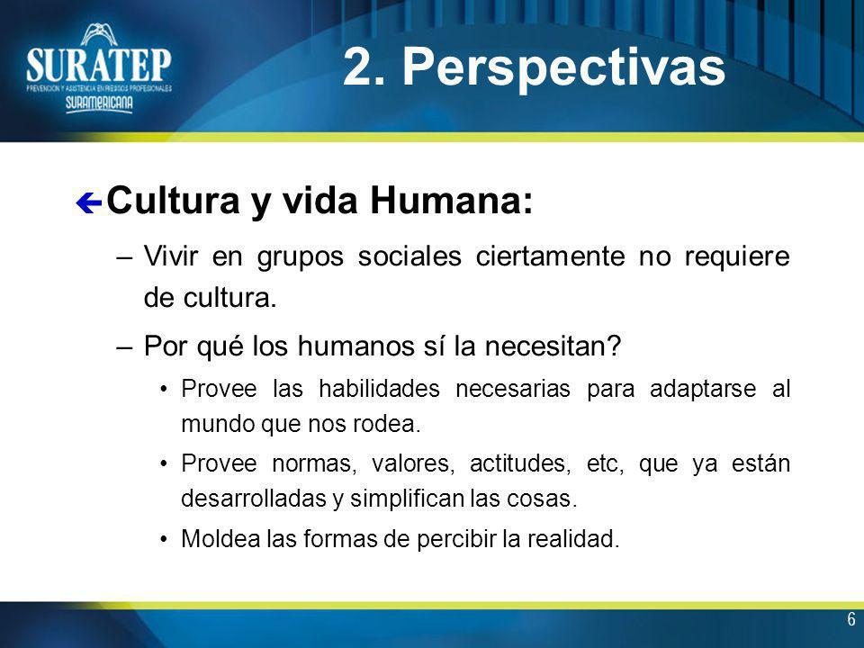 2. Perspectivas Cultura y vida Humana: