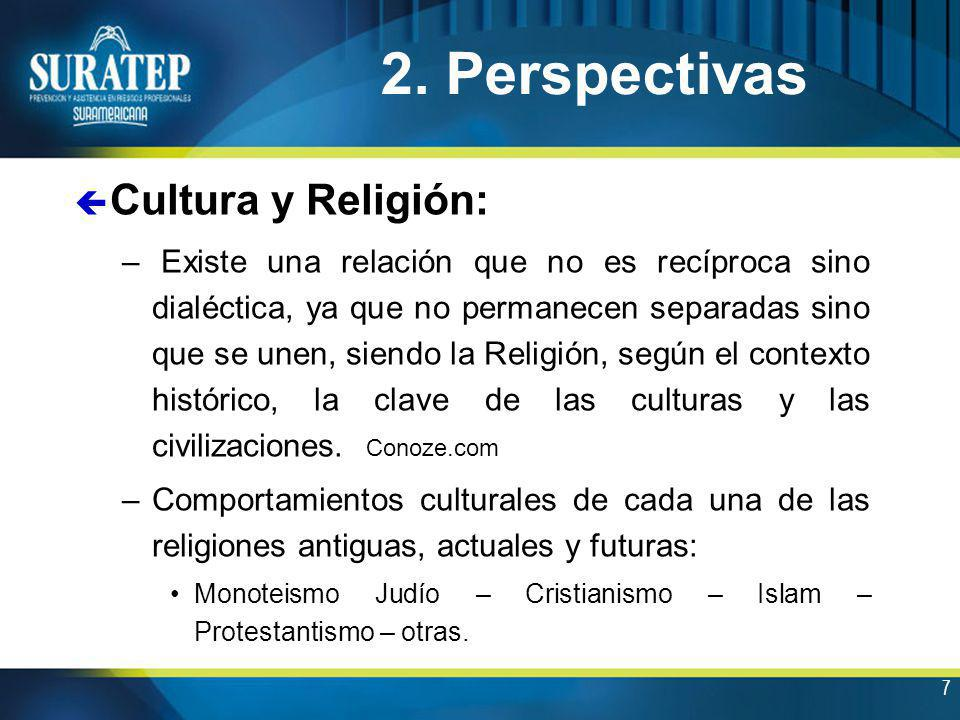2. Perspectivas Cultura y Religión: