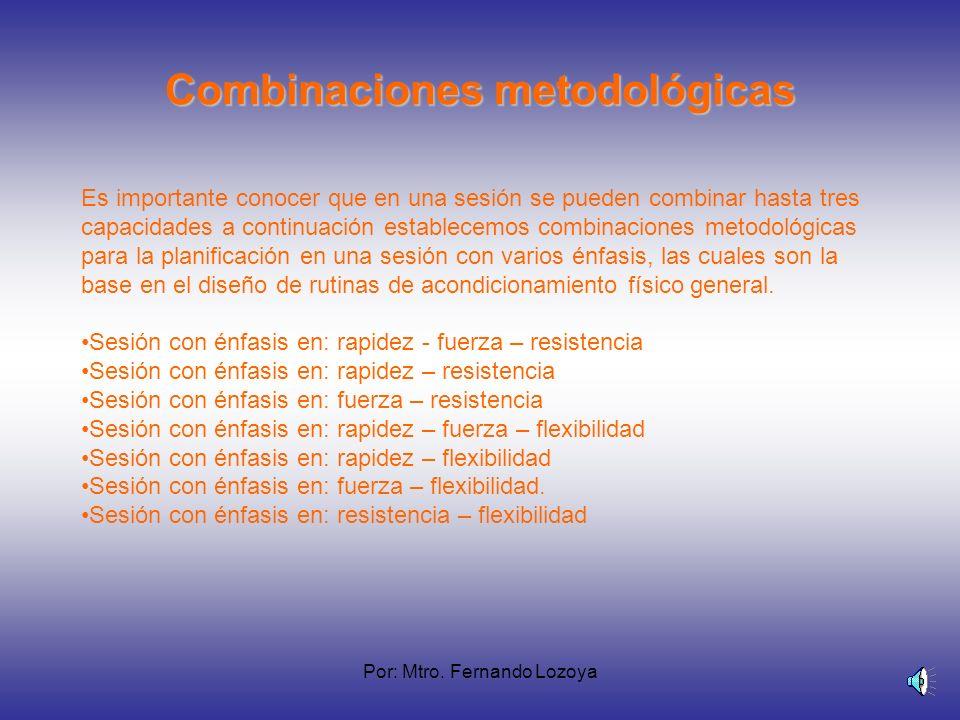 Combinaciones metodológicas