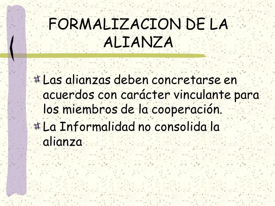 FORMALIZACION DE LA ALIANZA