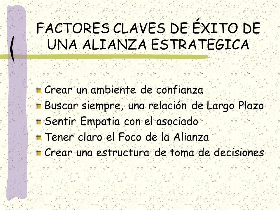 FACTORES CLAVES DE ÉXITO DE UNA ALIANZA ESTRATEGICA