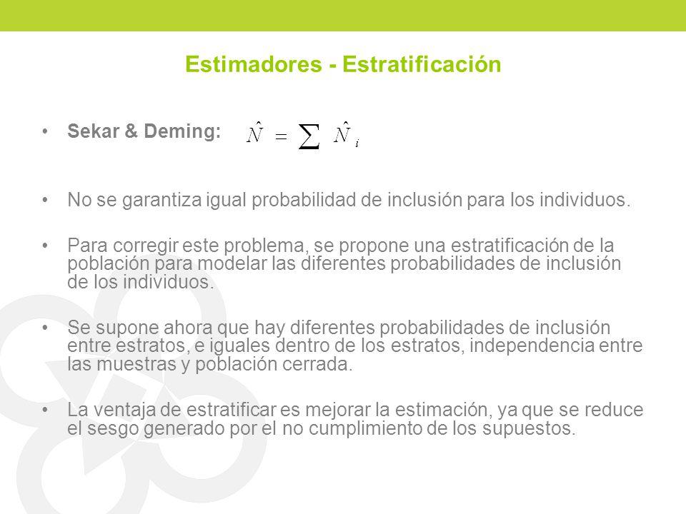 Estimadores - Estratificación
