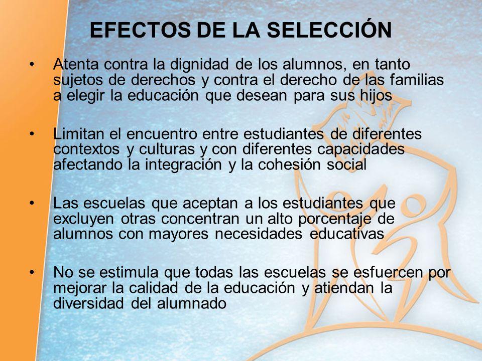 EFECTOS DE LA SELECCIÓN