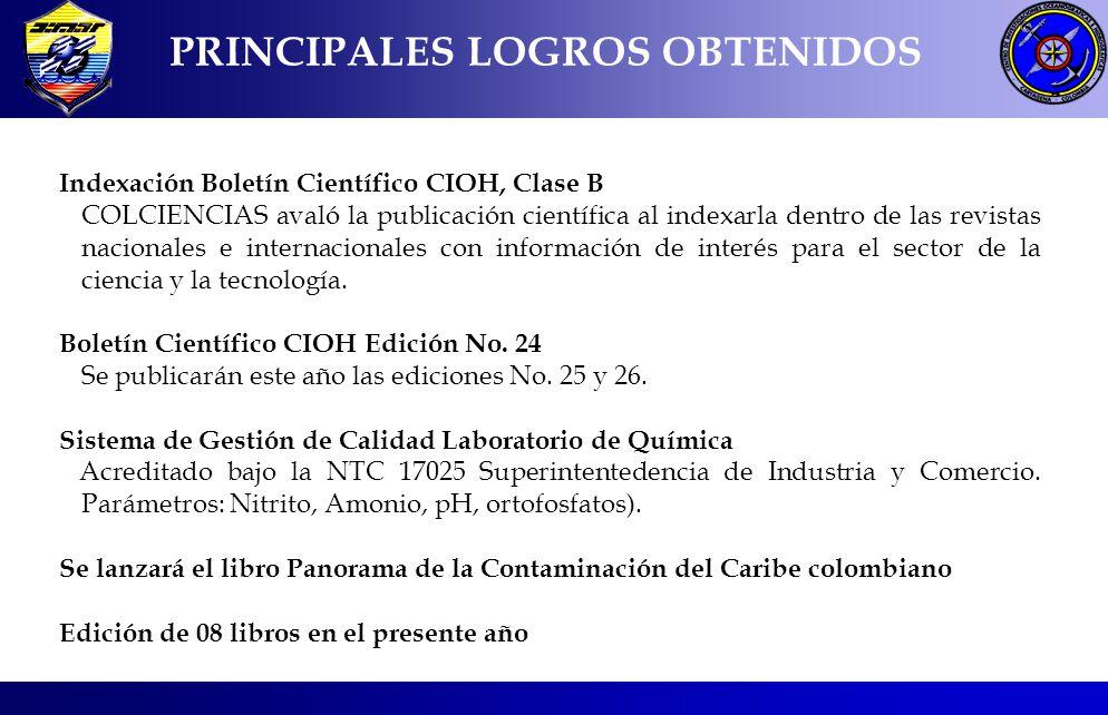 PRINCIPALES LOGROS OBTENIDOS