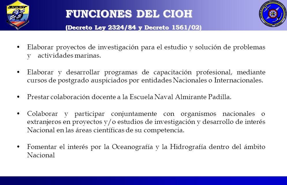 FUNCIONES DEL CIOH (Decreto Ley 2324/84 y Decreto 1561/02)