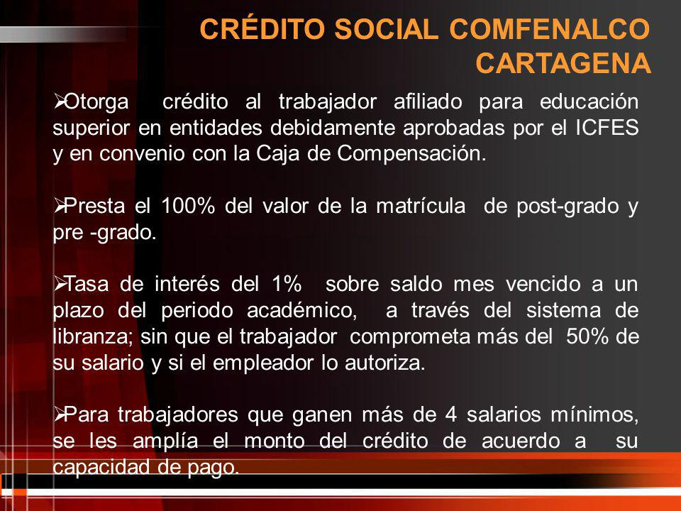 CRÉDITO SOCIAL COMFENALCO CARTAGENA
