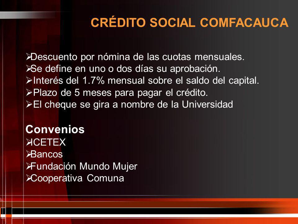 CRÉDITO SOCIAL COMFACAUCA