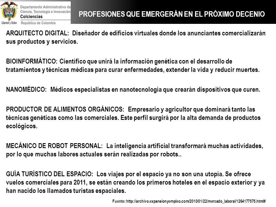PROFESIONES QUE EMERGERÁN EN EL PRÓXIMO DECENIO
