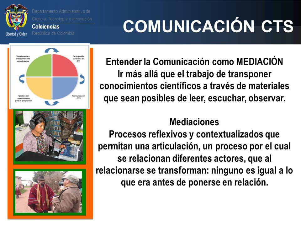 Entender la Comunicación como MEDIACIÓN