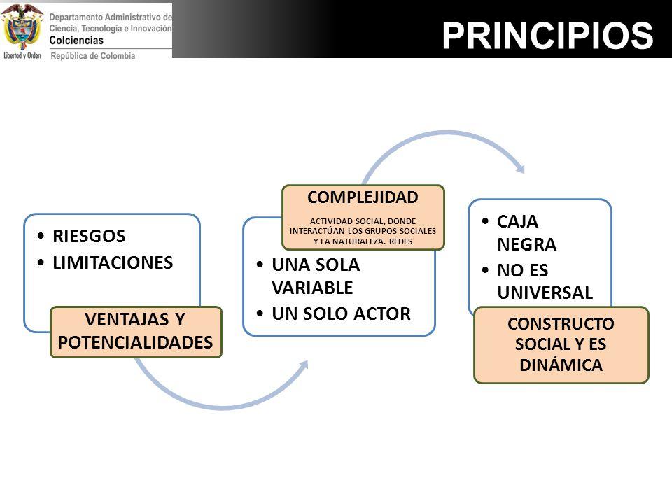 VENTAJAS Y POTENCIALIDADES CONSTRUCTO SOCIAL Y ES DINÁMICA
