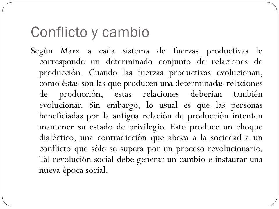 Conflicto y cambio