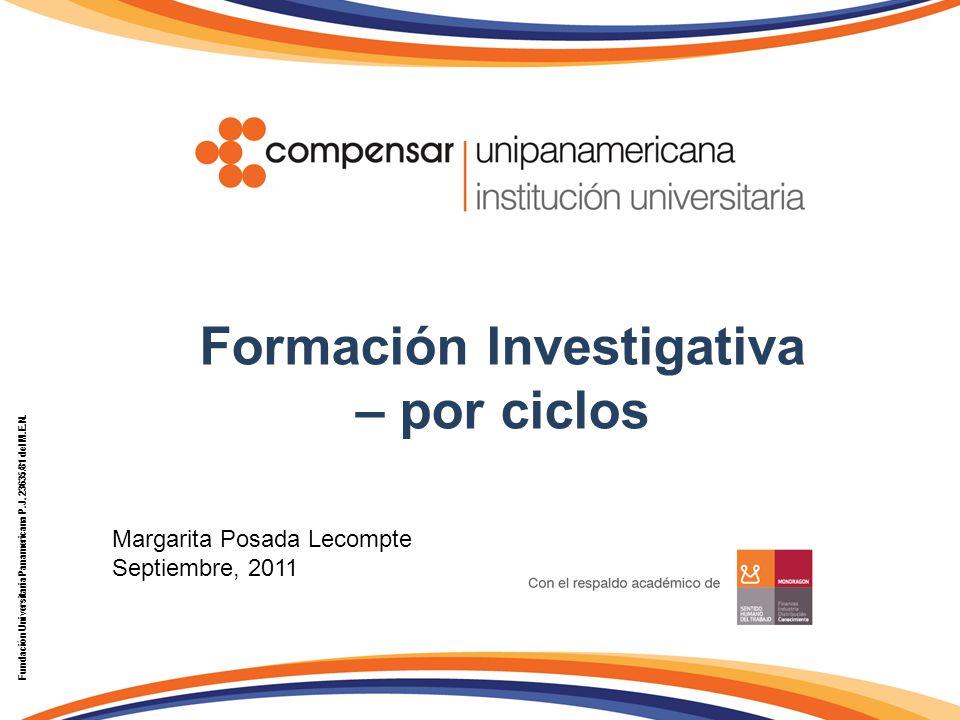 Formación Investigativa – por ciclos