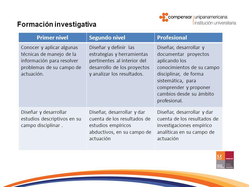 Formación investigativa