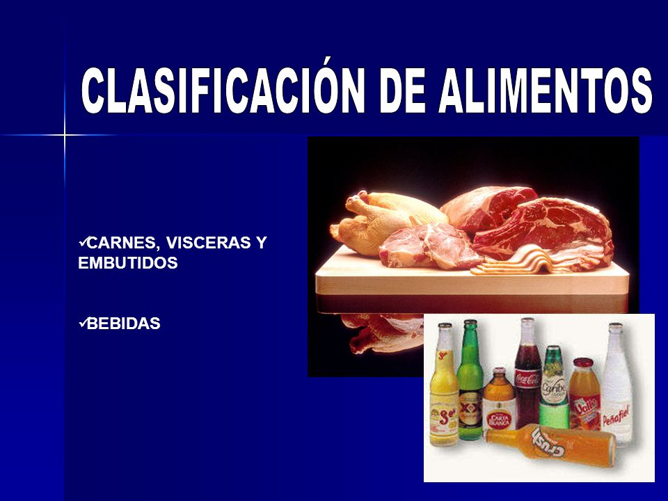 CLASIFICACIÓN DE ALIMENTOS