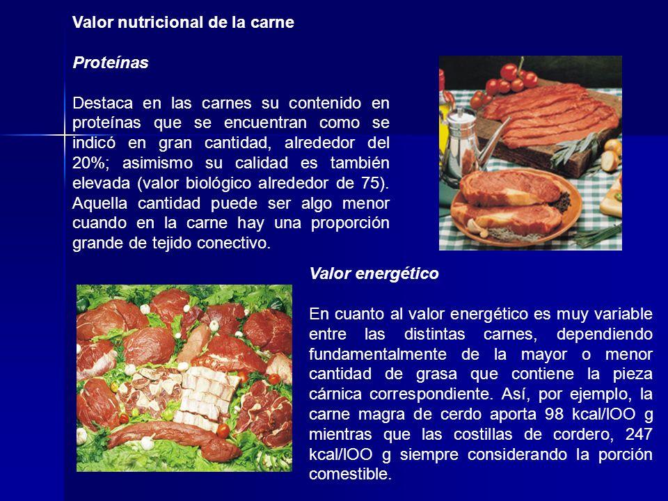 Valor nutricional de la carne