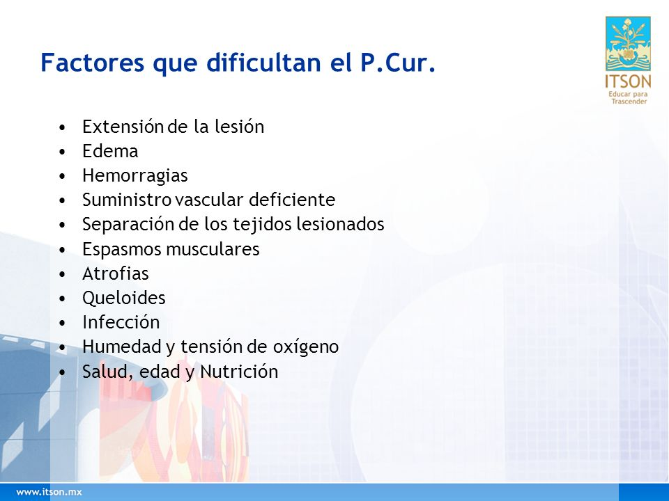 Factores que dificultan el P.Cur.