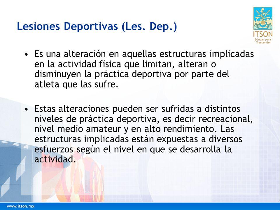 Lesiones Deportivas (Les. Dep.)