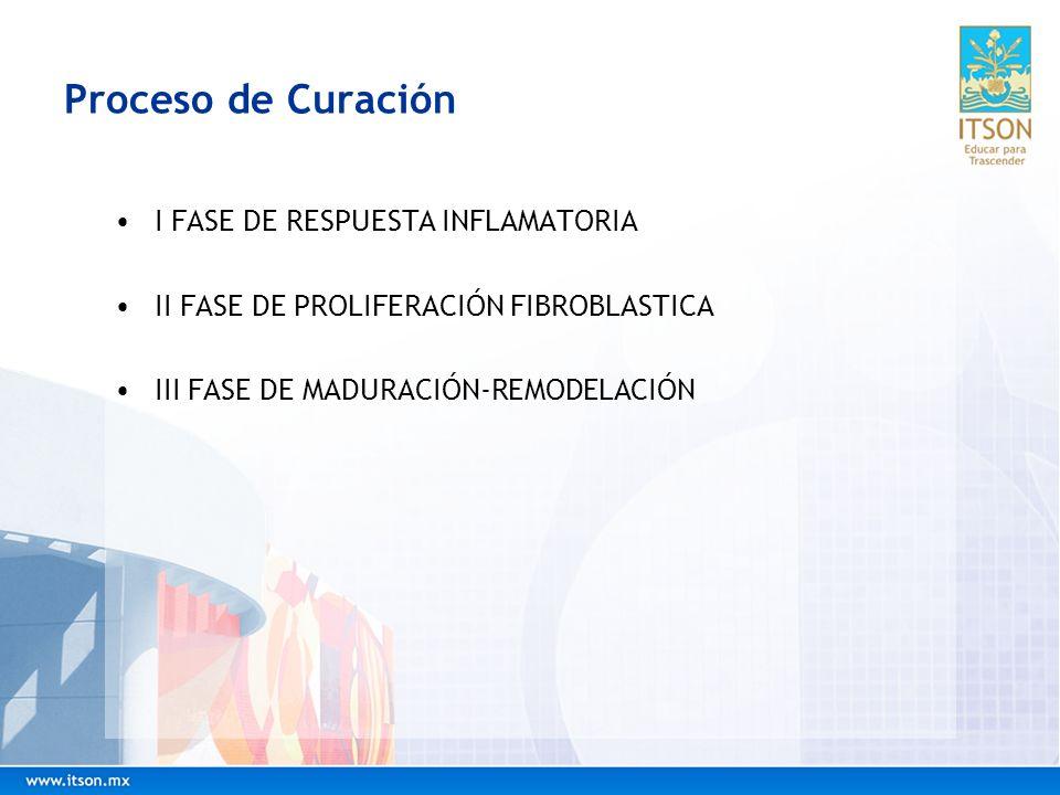 Proceso de Curación I FASE DE RESPUESTA INFLAMATORIA