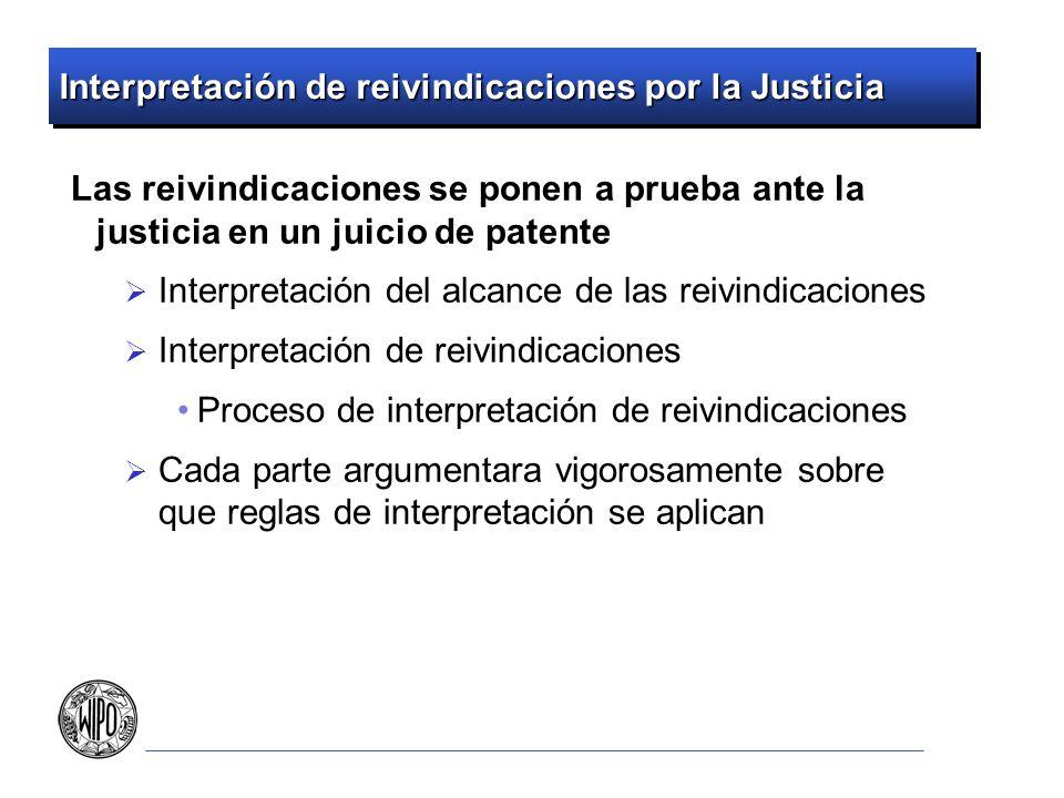 Interpretación de reivindicaciones por la Justicia