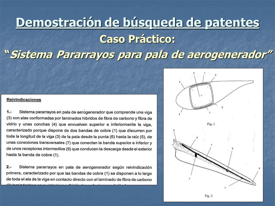 Demostración de búsqueda de patentes