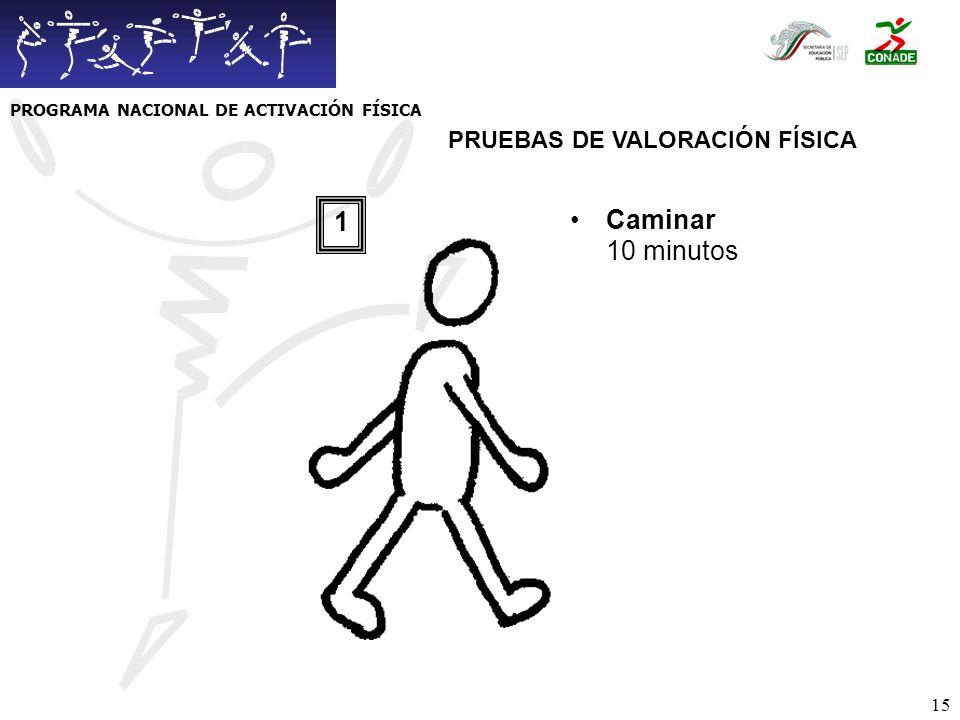PROGRAMA NACIONAL DE ACTIVACIÓN FÍSICA PRUEBAS DE VALORACIÓN FÍSICA