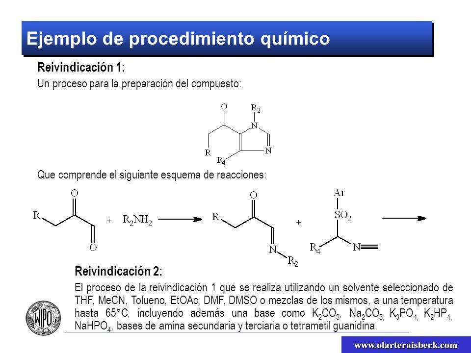 Ejemplo de procedimiento químico