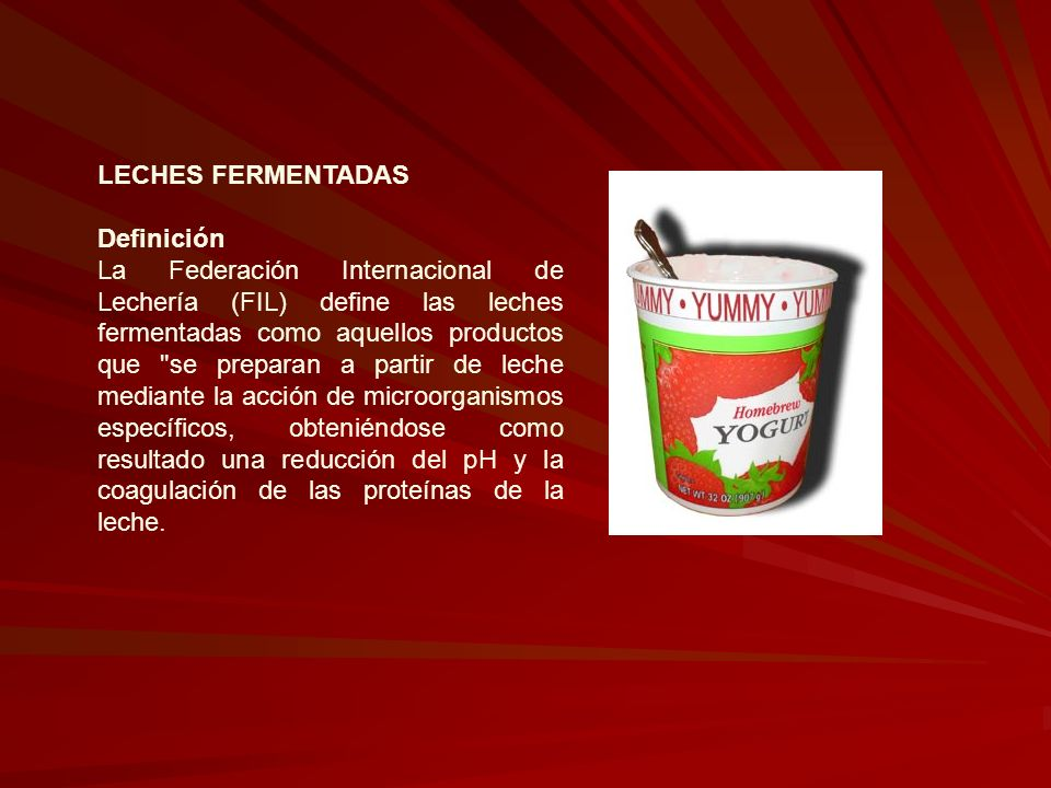 LECHES FERMENTADAS Definición.