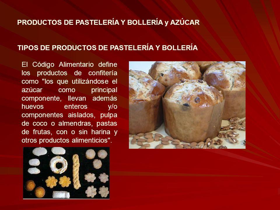 PRODUCTOS DE PASTELERÍA Y BOLLERÍA y AZÚCAR