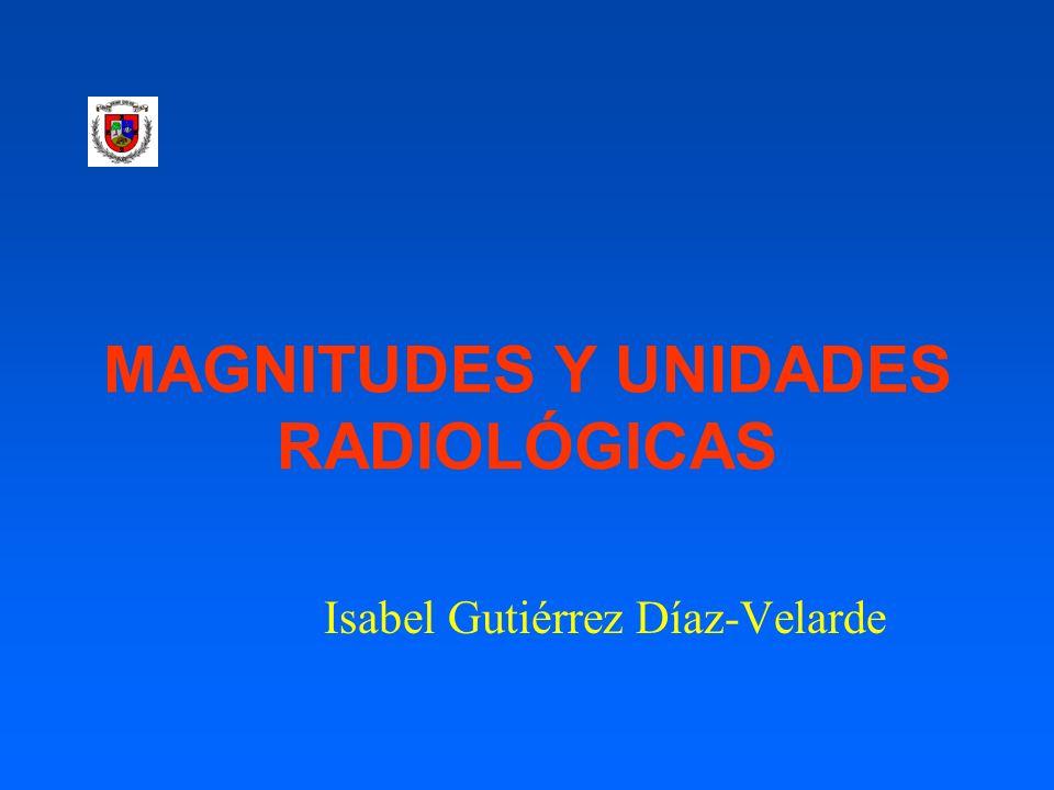MAGNITUDES Y UNIDADES RADIOLÓGICAS
