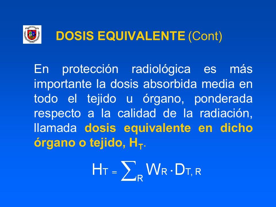 DOSIS EQUIVALENTE (Cont)