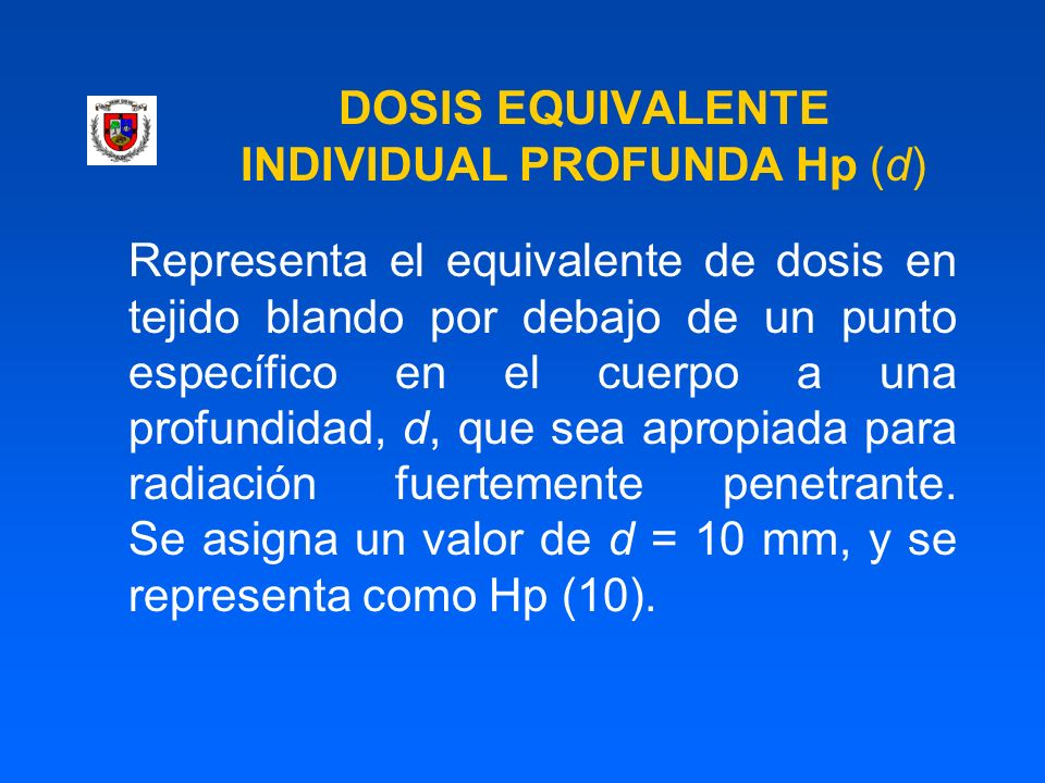 DOSIS EQUIVALENTE INDIVIDUAL PROFUNDA Hp (d)