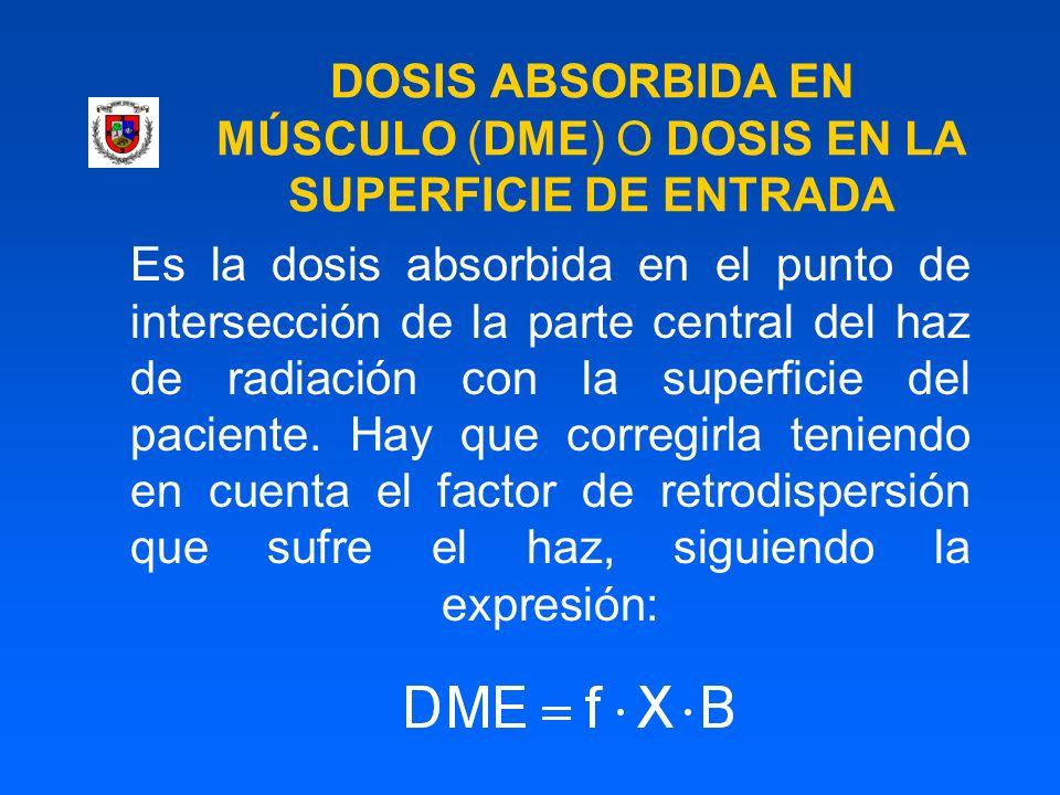 DOSIS ABSORBIDA EN MÚSCULO (DME) O DOSIS EN LA SUPERFICIE DE ENTRADA