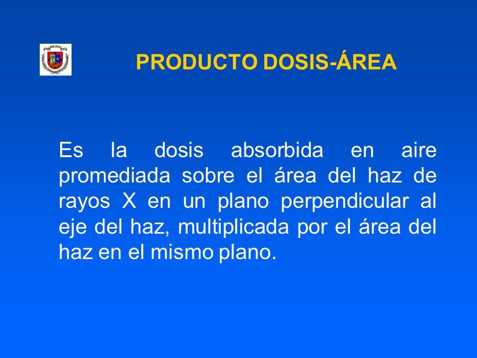 PRODUCTO DOSIS-ÁREA