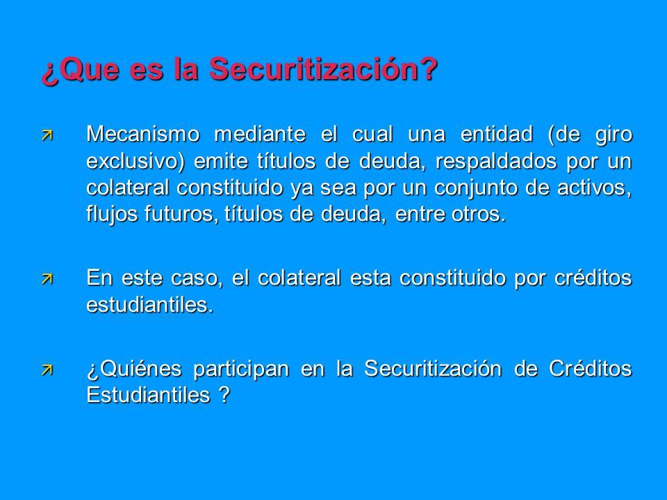 ¿Que es la Securitización