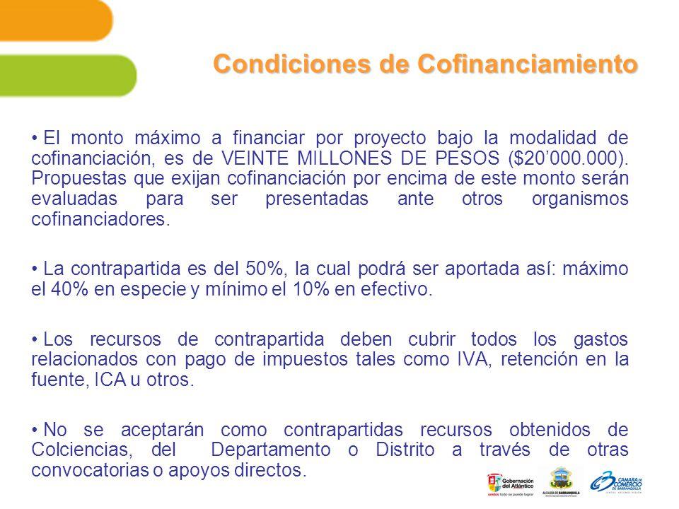Condiciones de Cofinanciamiento