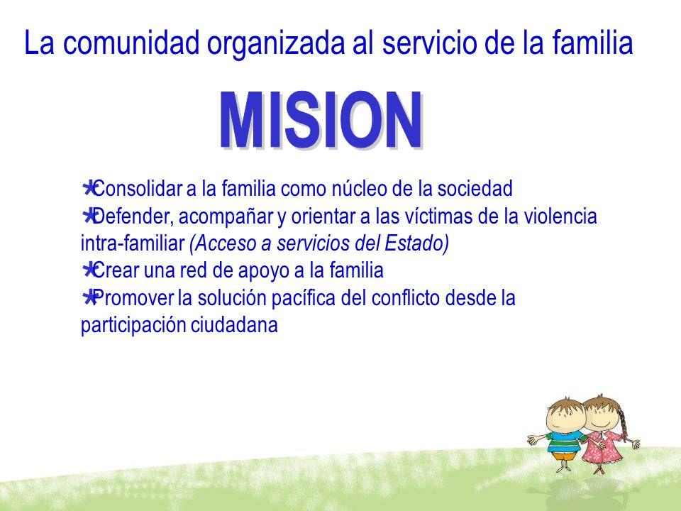 La comunidad organizada al servicio de la familia