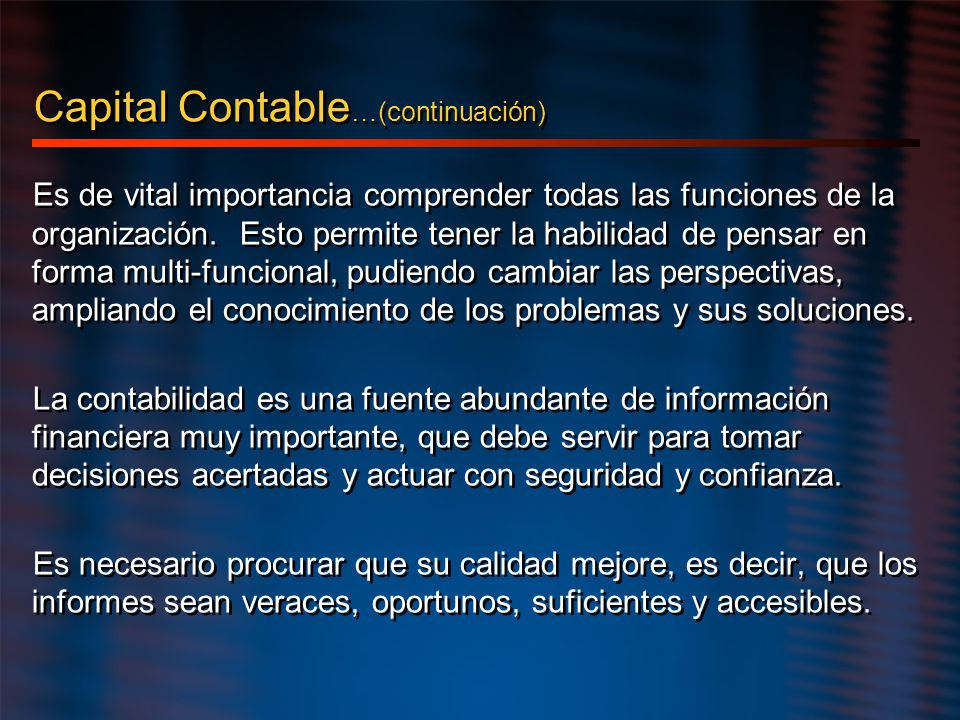 Capital Contable…(continuación)
