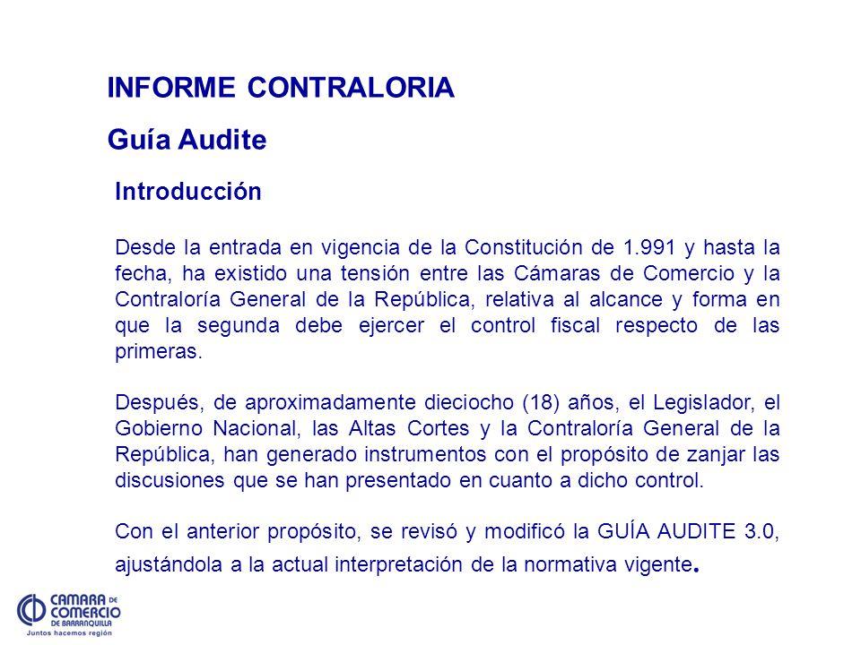 INFORME CONTRALORIA Guía Audite Introducción