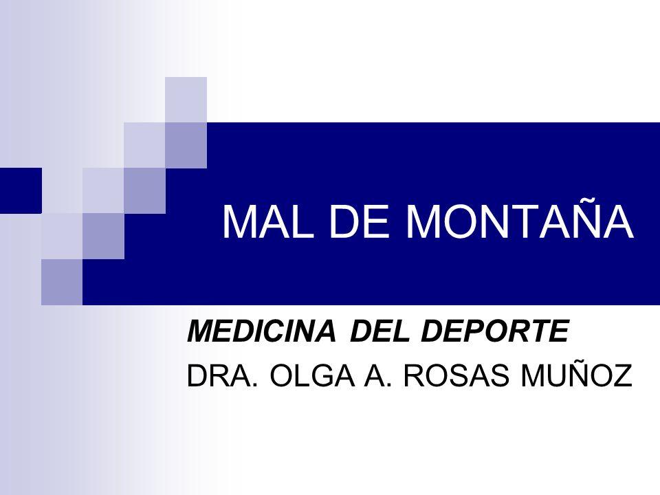 MEDICINA DEL DEPORTE DRA. OLGA A. ROSAS MUÑOZ