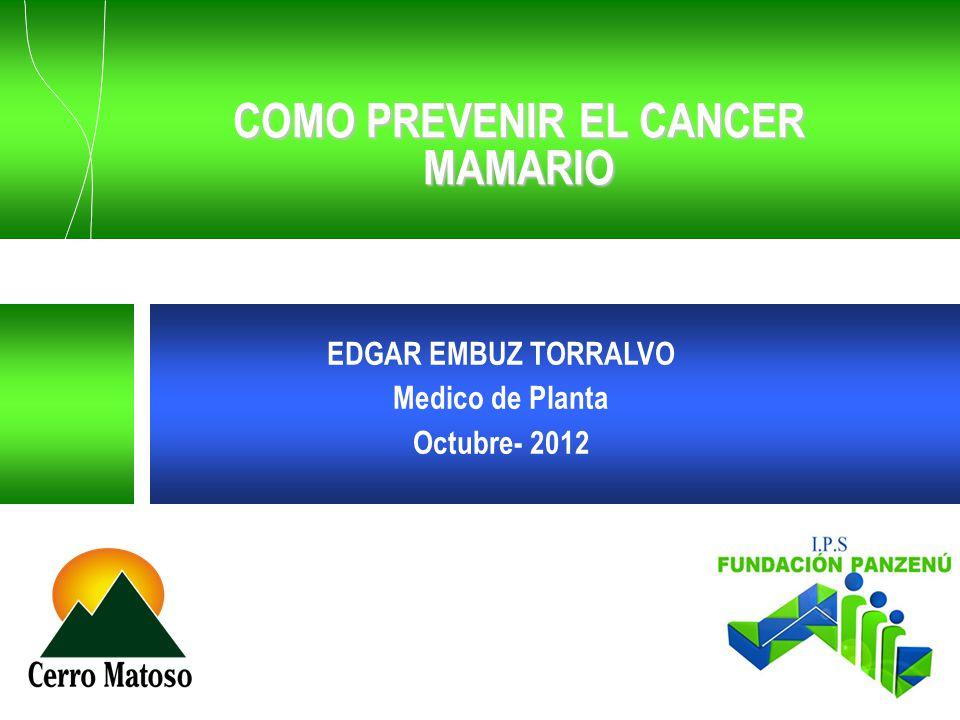COMO PREVENIR EL CANCER MAMARIO